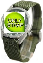Seiko 18mm Military Nylon Green Watch Strap For SNX425 snx425_strap replacement - $36.00