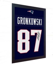ROB GRONKOWSKI New England Patriots signed PRINTED on CANVAS 100% COTTON... - $22.13