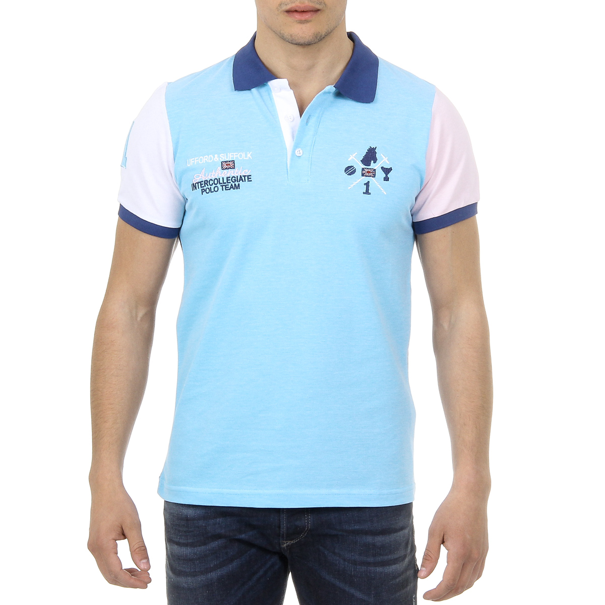 Primary image for Ufford & Suffolk Polo Club Mens Polo Short Sleeves US009 TURQUOISE