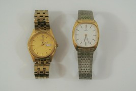 Seiko & Timex Wristwatch Lot of 2 Water Resistant Stainless Steel Need B... - $38.69