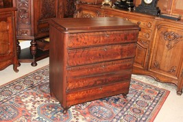 English Antique Mahogany Queen Anne Chest Of Drawers 4 Drawer Bedroom Dr... - $1,140.00