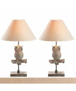 Set 2 Charming Owl Table Lamp w/ Neutral shade - $86.13