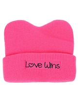 NEW! D&Y Women's March Patched Quote Cuff Hot Pink Beanie Pussycat Hat - €9,05 EUR