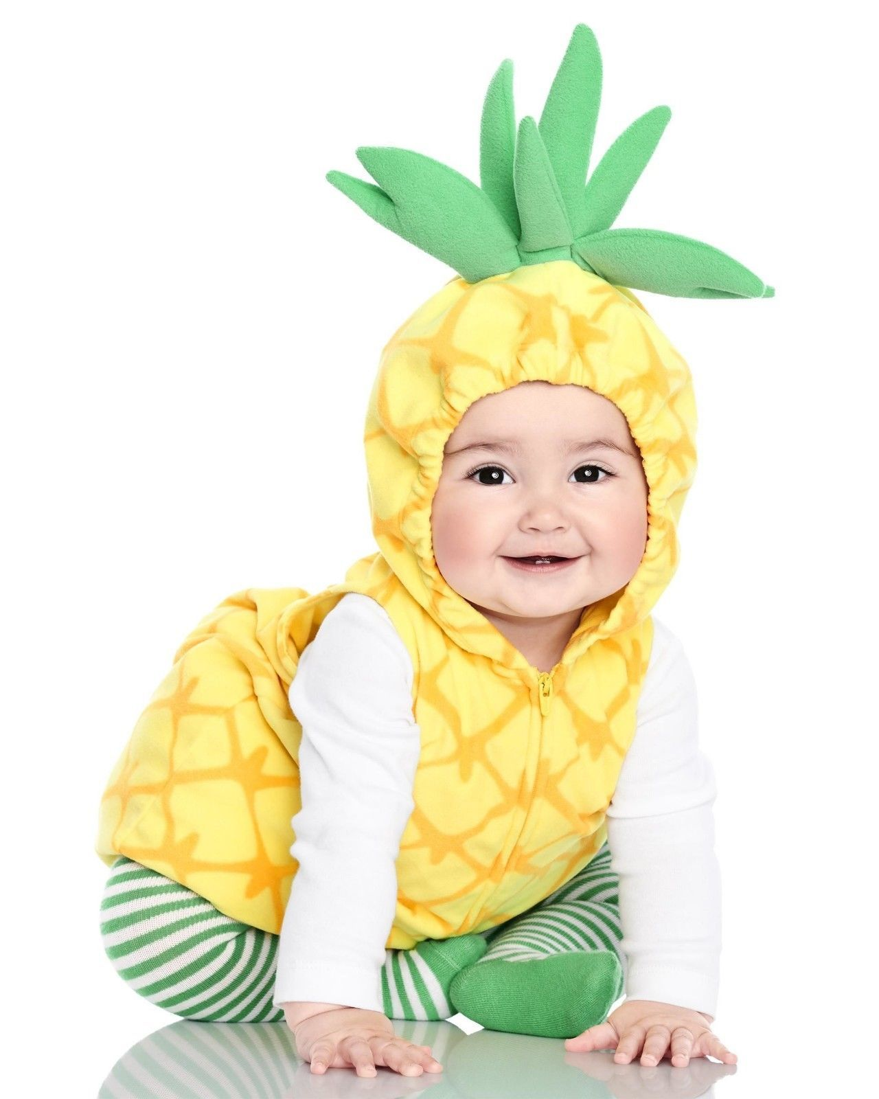 NEW NWT Carters Pineapple Halloween Costume 3/6 or 6/9 Months 3 Piece Fleece