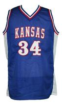 Paul Pierce #34 Custom College Basketball Jersey New Sewn Blue Any Size image 4