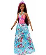 Barbie Dreamtopia Princess Doll, 12-inch, Brunette with Pink Hairstreak - $15.23