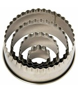 Ateco Fluted Edge Round Cutters in Graduated Sizes, Stainless Steel, 4 P... - $13.09