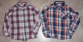 Boys Size 5 ~ Old Navy + Sonoma Plaid Button Front Long Sleeved Shirt Lot ~ Xs - $12.95