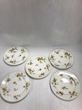 5 pc Vintage Haviland Limoges France Autumn Leaf Plate 8.5 inch marked - $96.48