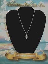 Men/Women Religious Fashion Double Silver Star of David Pendant - $7.91