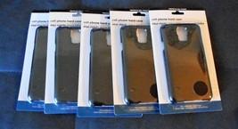 WHOLESALE LOT 5 BLACK PLAIN STURDY PLASTIC SAMSUNG GALAXY S5 PHONE CASES  - $10.95