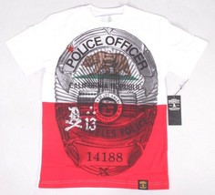 Dissizit California Republic Police State Officer Badge LAPD Los Angeles T-Shirt image 1