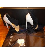New L.A.M.B. Debby D'Orsay Pumps / heels Navy & white Leather size 7 M - $80.00