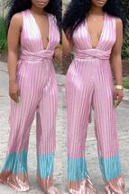 Casual Striped Light One-piece Jumpsuit - $33.00