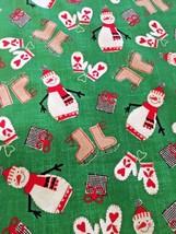 Whistler Studios presents - Craft Paper Christmas on Green -Cotton Fabri... - $4.27