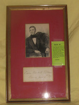 OLIVER WENDELL HOLMES SIGNED ENGRAVED PICTURE1896 , WITH AUTOGRAPH AND D... - $242.75