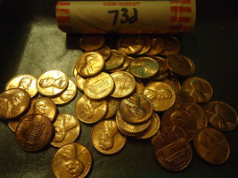 1973-D BU ROLL OF LINCOLN CENTS >>> COMBINED SHIPPING - $4.94