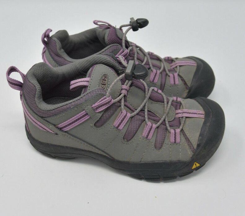 Keen Women's Sz 4 Gray Pink Bungee Strap Athletic Hiking Water Ready Trail Shoes image 3
