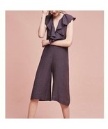 NWT Anthropologie Gray Cascada Jumpsuit by Maria Stanley FREE EARRINGS I... - $16.24+