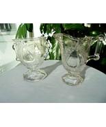 Antique Adams & Co. Baltimore Pear Gipsy Creamer & Open Sugar Bowl  c 18... - £57.38 GBP