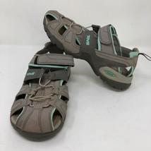 Teva Womens Gray Forebay Fisherman Sport Hiking Water Sandals Size 9 Str... - $37.86
