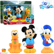 Bath Toy Set Mickey Mouse Donald Duck & Pluto Multicolor Water Fun Gift ... - $16.99