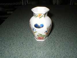 "MINI VASE AYNSLEY Bone China COTTAGE GARDEN England 1970s W/Label 3 3/8""... - $5.80"