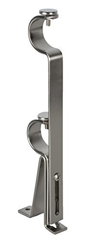 Urbanest Adjustable Double Curtain Rod Bracket, up to 1 1/8-inch Diameter Rods,