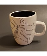 Laurie Gates Antilles White/Black Coffee Tea Mug Cup with With Black Flo... - $8.00