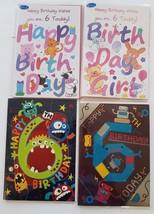 Age 6 Birthday Card Male Or Female Boy Or Girl 6th Birthday Cards - $1.29