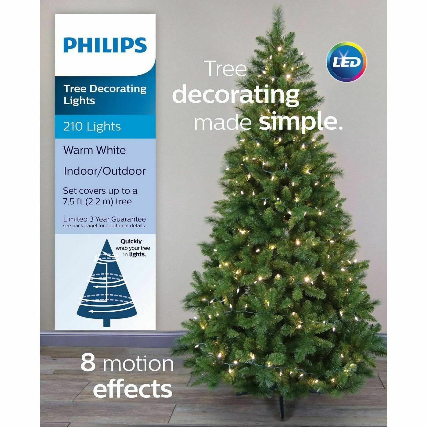 Philips Led Christmas Tree: Philips 210ct 8 Function Christmas Tree Decorating LED