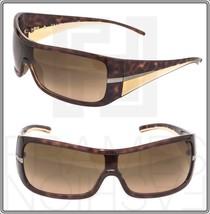 PRADA Wrap Brown Tortoise Beige Gradient Sunglasses SPR 02H Unisex Authentic - $247.49
