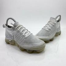 Nike Women's Air Vapormax Flyknit 2 Women's Size 5.5 White Grey Shoes 94... - $89.06