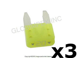 20 Amp Yellow Fuse - Mini Type (ATM) Set of 3 LITTELFUSE +1 YEAR WARRANTY - $12.85