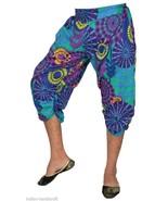 10 Cotton Printed Boho Harem Capri Trousers Womens Gypsy Calf length Pan... - $80.75