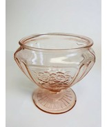 Vintage Anchor Hocking Candy Dish Mayfair Pink Open Rose - $8.91