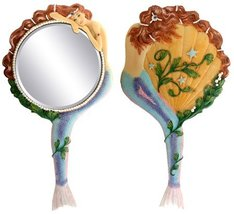 Mermaid Hand Mirror Collectible Sea Nymph Decoration Figurine - $24.70