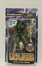 Wetworks Green Frankenstein (McFarlane, 1996) Ultra Action Figure Battle Staff - $19.79