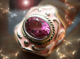 HAUNTED RING CALL AND CREATE THE BEAUTY YOU WISH FOR SECRET POWER OOAK MAGICK - $8,877.77