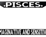 Black License Plate Frame Auto Accessory Pisces Imaginative and Sensitive