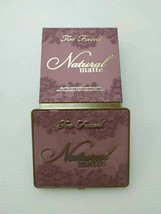 Too Faced Natural Matte Eye Shadow Palette With Box New 100% Authentic - $29.70