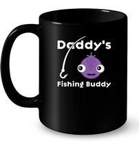 Kids Daddy's Fishing Buddy Ceramic Mug Young Fisherman Gift Tee - $13.99+