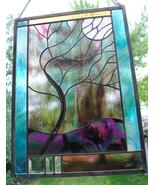 Stained Glass Window Customizable Stormy Tree  - $187.00