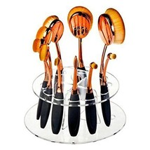 10 Holes Clear Acrylic Oval Brushes Organizer Holder for Makeup Brushes ... - $318,64 MXN