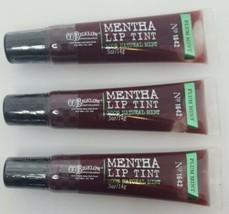 Bath & Body Works CO Bigelow Mentha Lip Tint Plum Mint X3 Sealed New Three Pack - $23.17