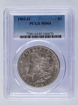 1902-O Silver Morgan Dollar $1 PCGS Graded MS 64 - $89.09