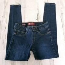 Girls Size 10 Regular Arizona Jeans Blue Denim Leggings Jeggings - $9.69