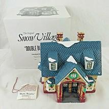 Dept 56 Snow Village Double Bungalow Lighted Vintage 5407-0 - $49.49