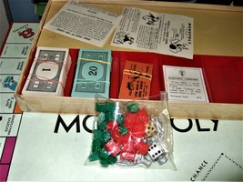 MONOPOLY GAME: Original Box, Game Board, Cards, Money VINTAGE 1957 image 6