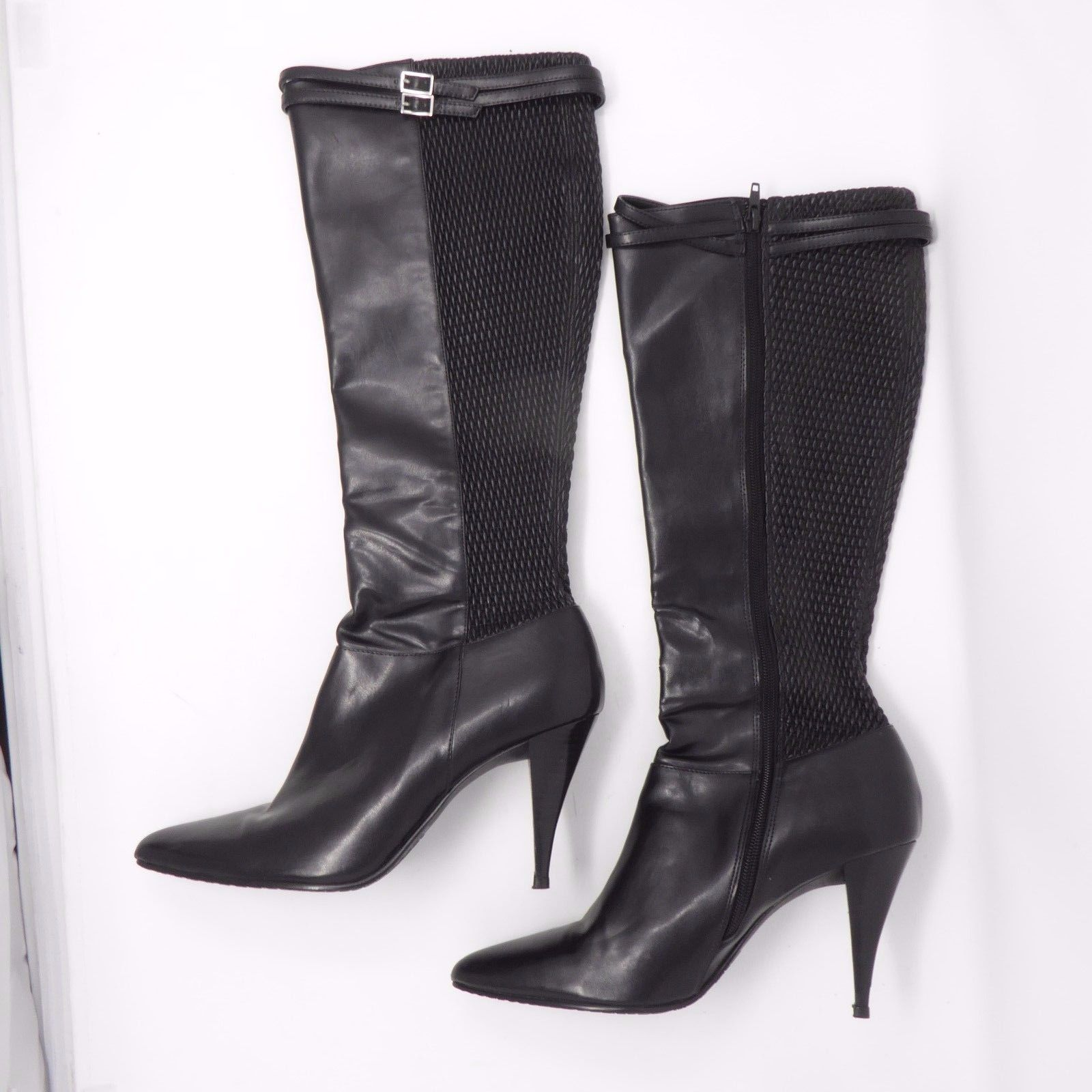 284d0451e20 S l1600. S l1600. Previous. Calvin Klein Women s Riana Leather Stretch Knee  18